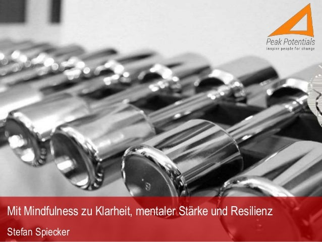 Mit Mindfulness zu Klarheit, mentaler Stärke und Resilienz Stefan Spiecker