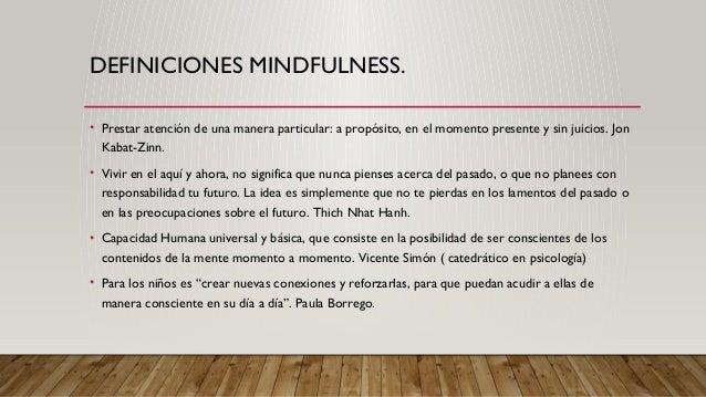 Mindfulness en el aula 1. Slide 2