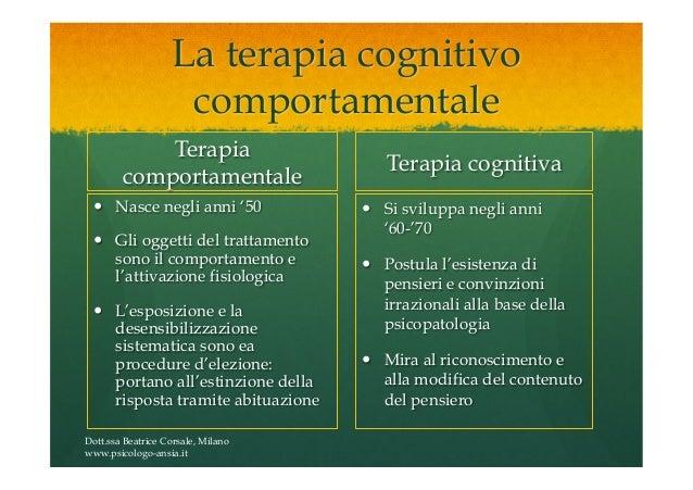 terapia cognitivo comportamentale ansia
