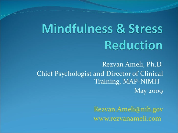 Rezvan Ameli, Ph.D. Chief Psychologist and Director of Clinical Training, MAP-NIMH  May 2009 [email_address] www.rezvaname...