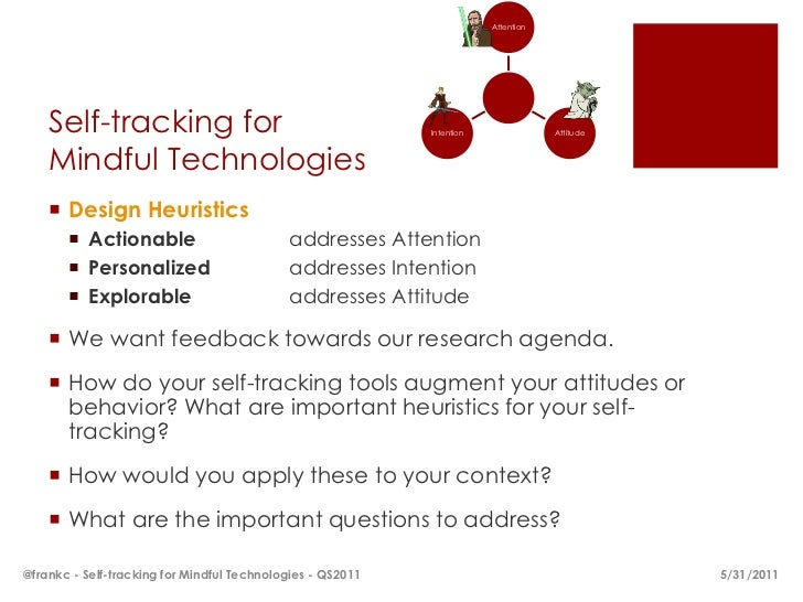Attention    Self-tracking for                                       Intention               Attitude    Mindful Technolog...