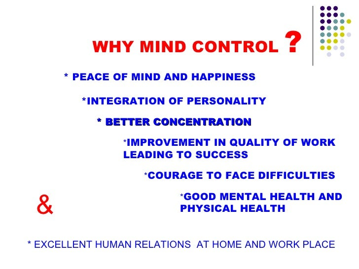 how to control mind thoughts pdf