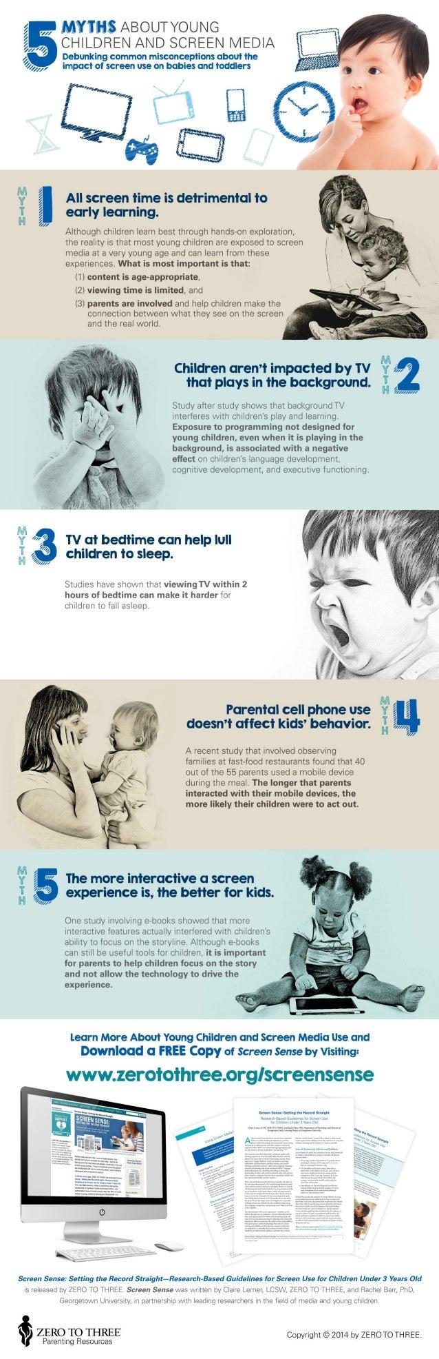 """7 1 .4        5   I.   / ' E  5 Z""""   ,  ,  f V.   CHILDREN AND SCREEN MEDIA :1, S A / ,   ' Debunking common misconception..."""