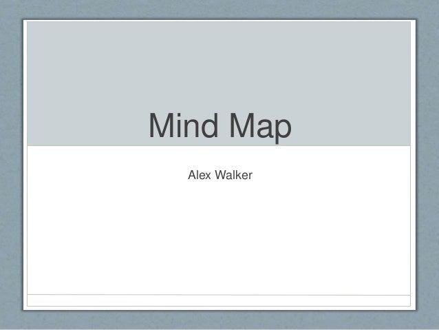 Mind Map Alex Walker