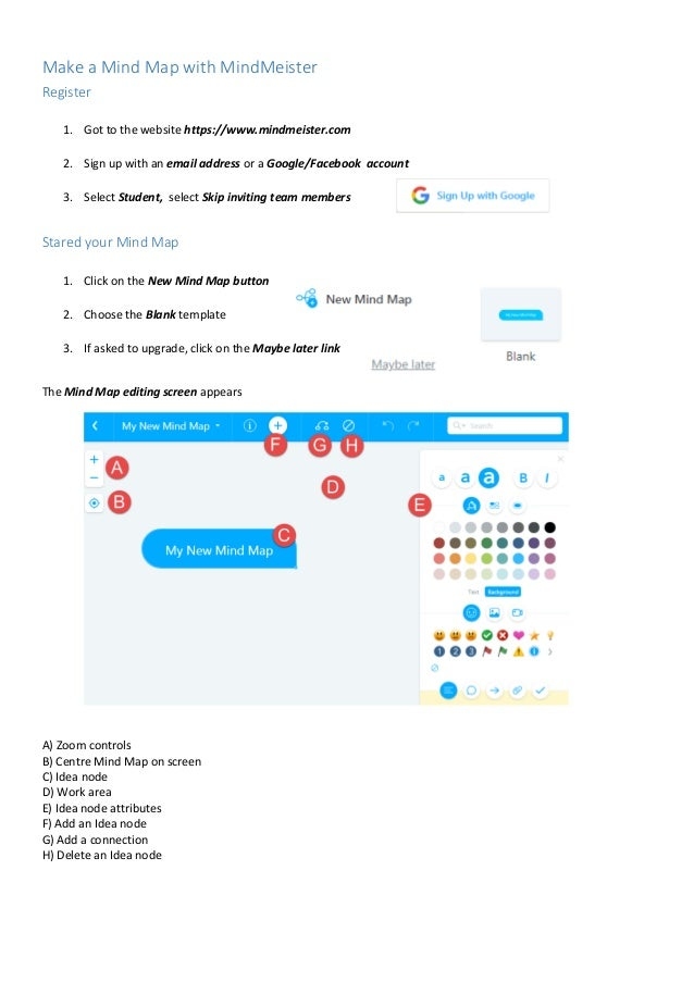 Make a Mind Map with Mindmeister Map Meister on