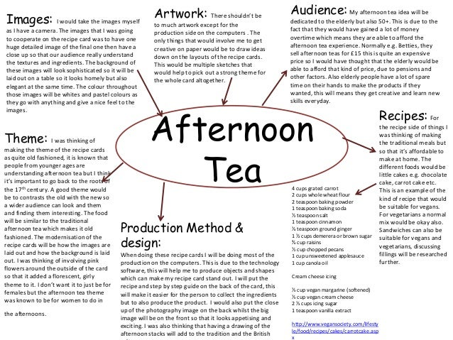 Afternoon tea business plan