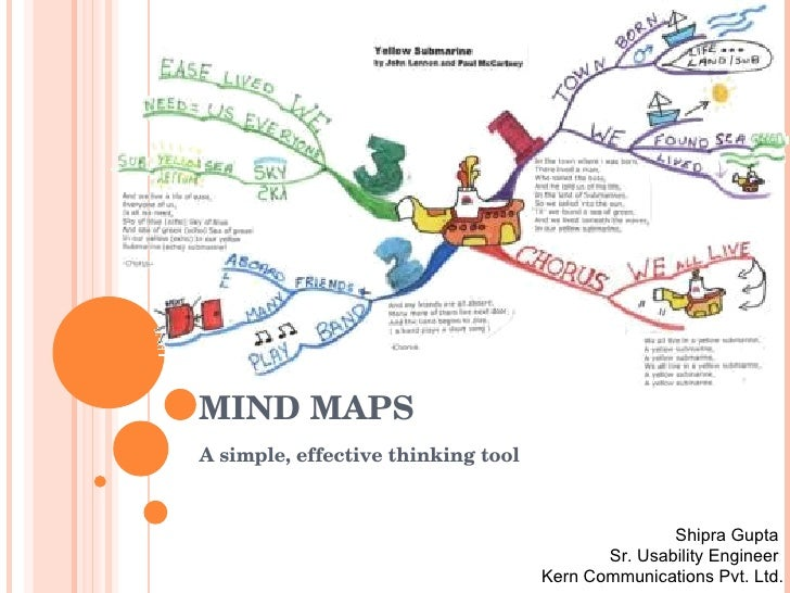 mind maps a simple effective thinking tool shipra gupta sr usability engineer kern communications usability engineer
