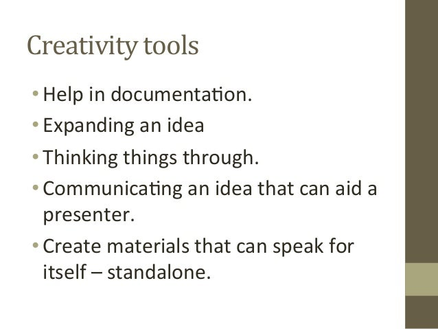 Creativity Tools: The Power of Flow Charts, Mind Maps, Infographs Slide 3