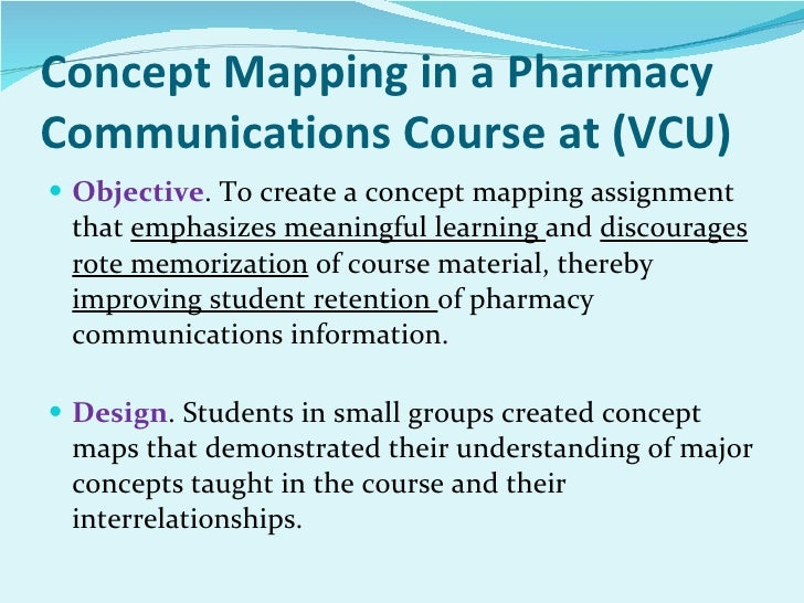 mind mapping for pharmacy education and practice