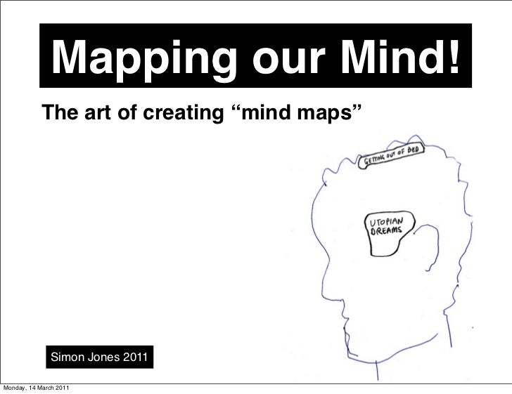 "Mapping our Mind!            The art of creating ""mind maps""              Simon Jones 2011Monday, 14 March 2011"