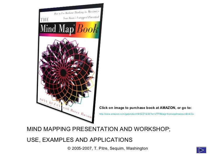 MIND MAPPING PRESENTATION AND WORKSHOP; USE, EXAMPLES AND APPLICATIONS © 2005-2007, T. Pitre, Sequim, Washington Click on ...