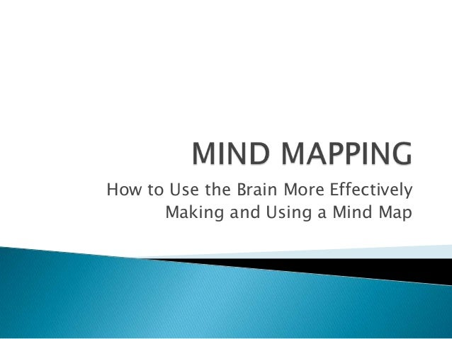 How to Use the Brain More Effectively Making and Using a Mind Map