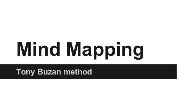 Mind Mapping Tony Buzan method