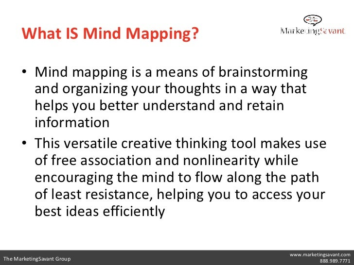 The mind map harnesses      What IS Mind Mapping?                    the full                range of cortical skills—word...