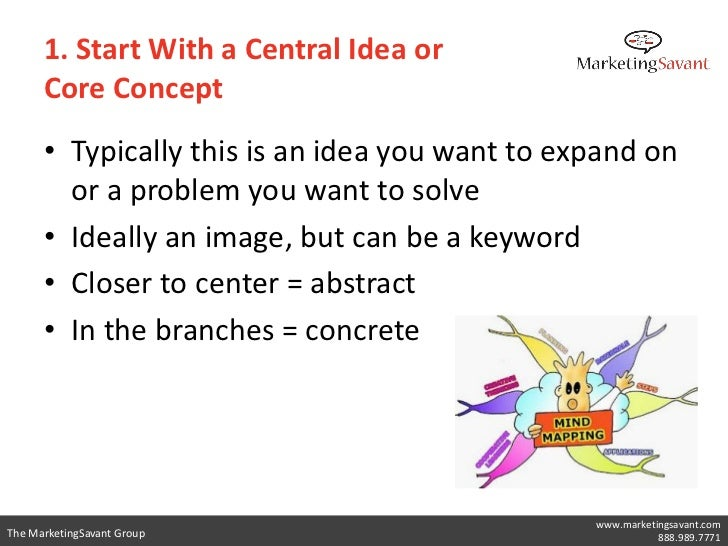 1. Start With a Central Idea or      Core Concept      • Typically this is an idea you want to expand on        or a probl...