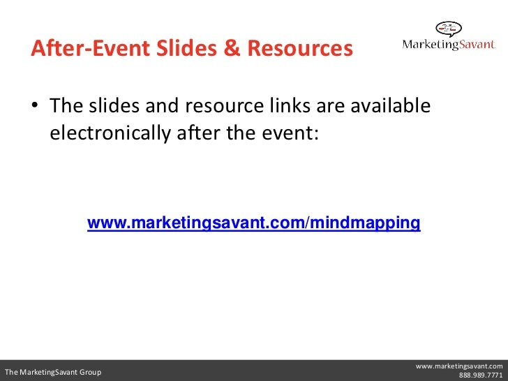 After-Event Slides & Resources      • The slides and resource links are available        electronically after the event:  ...