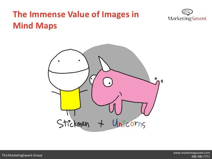The Immense Value of Images in      Mind Maps                                       www.marketingsavant.comThe MarketingSa...