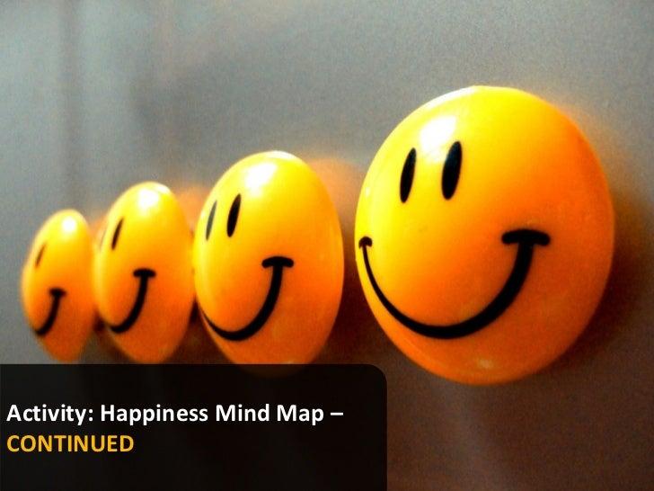 Activity: Happiness Mind Map –CONTINUED                                 www.marketingsavant.comThe MarketingSavant Group  ...