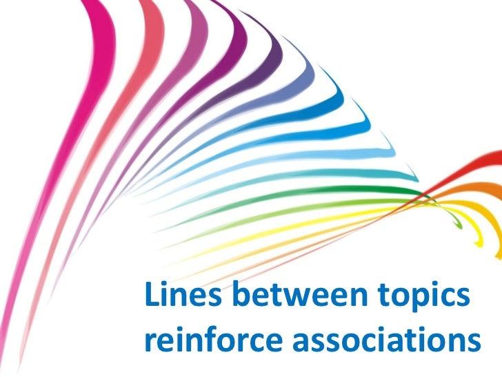 Lines between topics                            reinforce associations                                             www.mar...