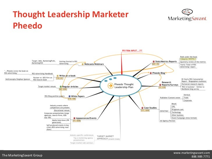 Thought Leadership Marketer      Pheedo                                    www.marketingsavant.comThe MarketingSavant Grou...