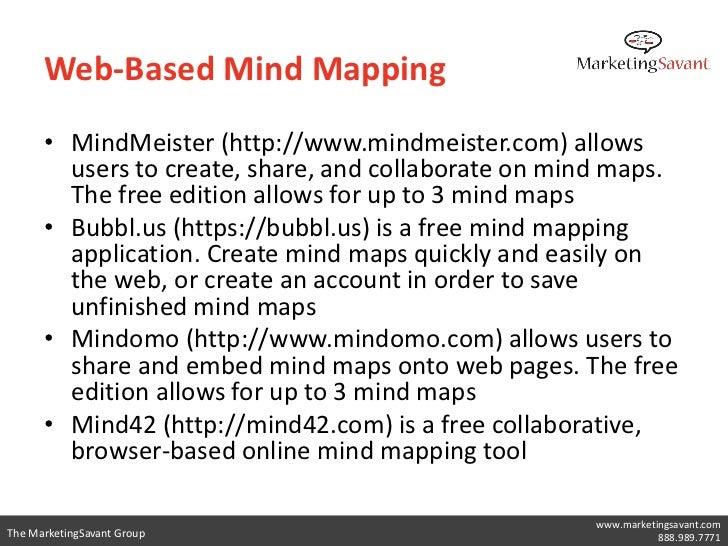 MindMeister                            www.marketingsavant.comThe MarketingSavant Group              888.989.7771