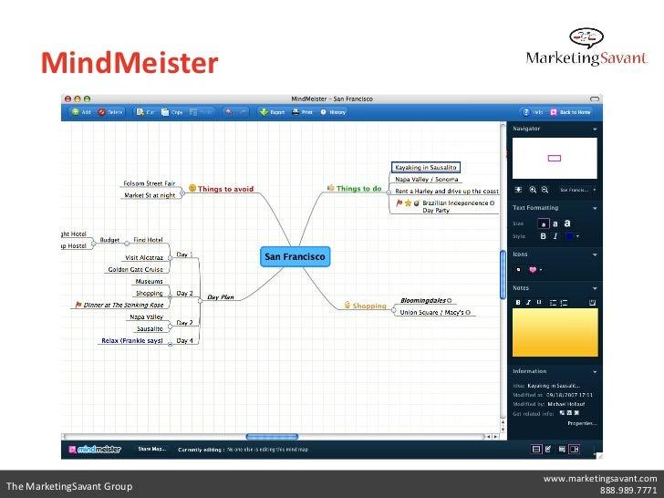 iPad Mind Mapping                            www.marketingsavant.comThe MarketingSavant Group              888.989.7771