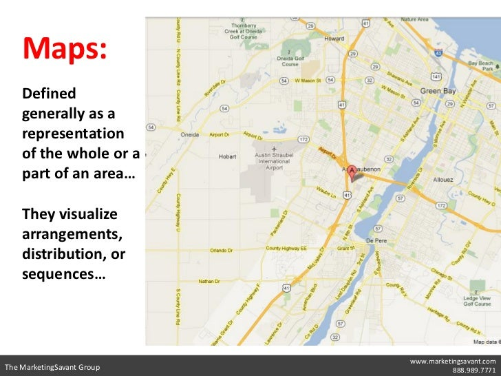 Maps:    Defined    generally as a    representation    of the whole or a    part of an area…    They visualize    arrange...