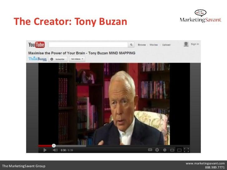 The Creator: Tony Buzan                                www.marketingsavant.comThe MarketingSavant Group                  8...