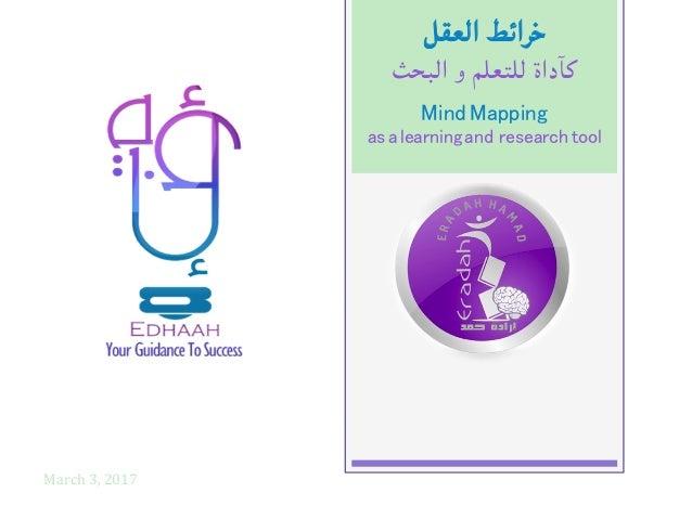 خرائطالعقل كآداةللتعلموالبحث March3,2017 MindMapping! asalearningand researchtool