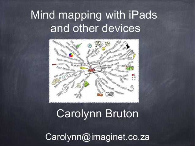 Carolynn Bruton Carolynn@imaginet.co.za Mind mapping with iPads and other devices