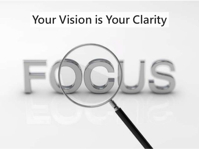 Your Vision is Your Clarity