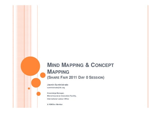 MIND MAPPING & CONCEPT MAPPING (SHARE FAIR 2011 DAY 0 SESSION) Jasmin Suministrado suministrado@ilo.org Knowledge Manager,...