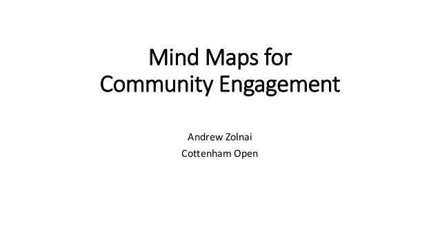 Mind Maps for Community Engagement Andrew Zolnai Cottenham Open