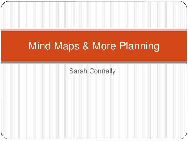 Sarah Connelly Mind Maps & More Planning