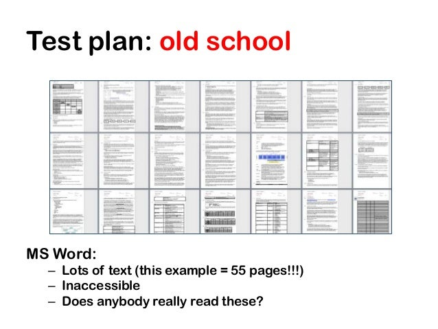 Test Plan: ...  Example Test Plan