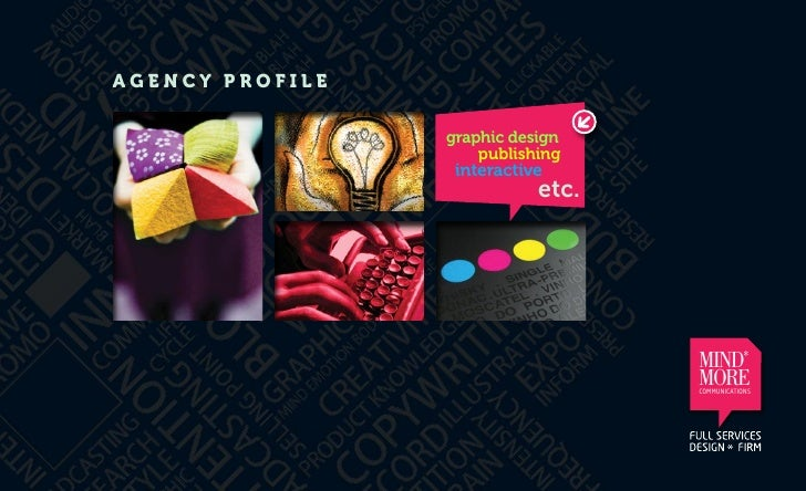 AGENCY PROFILE                 graphic design                     publishing                  interactive                 ...