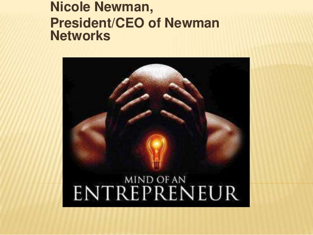 Nicole Newman, President/CEO of Newman Networks