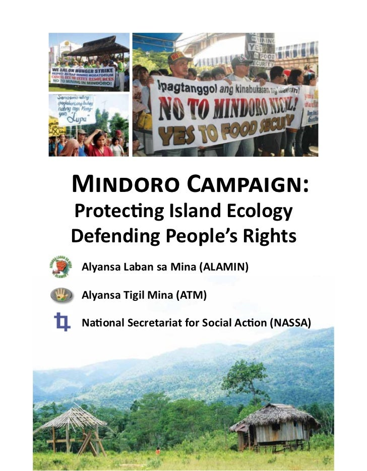 Mindoro campaign: protecting island ecology defending people's rights