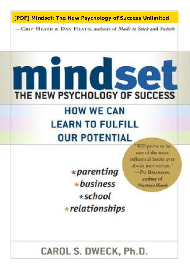 Pdf Mindset The New Psychology Of Success Unlimited