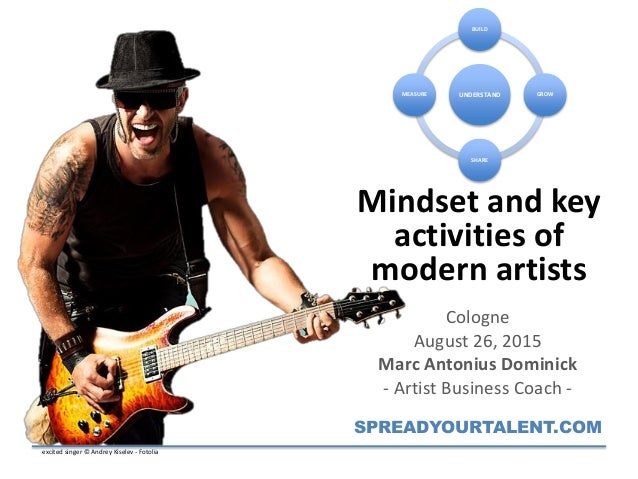 Mindset and key activities of modern artists Cologne August 26, 2015 Marc Antonius Dominick - Artist Business Coach - SPRE...