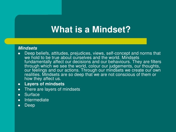 Mindset environmental dynamics and business success