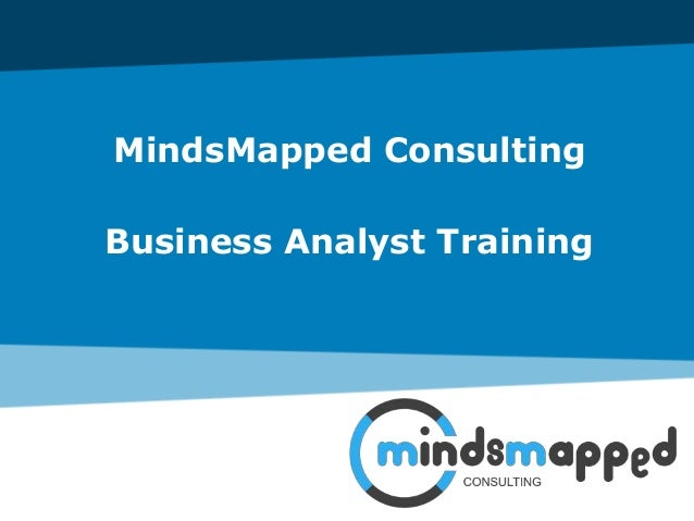 MindsMapped Consulting Business Analyst Training