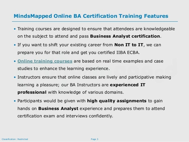 IIBA/PMI-PBA Training and Certification by MindsMapped Consulting