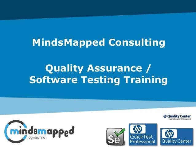MindsMapped Consulting Quality Assurance / Software Testing Training