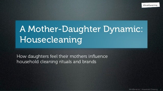 MindSwarms | Household Cleaning A Mother-Daughter Dynamic: Housecleaning 1 How daughters feel their mothers influence house...