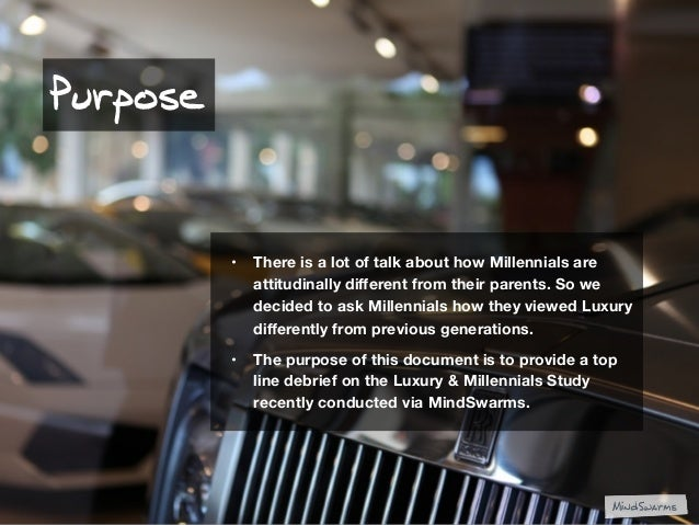 Luxury for Millennials Slide 2