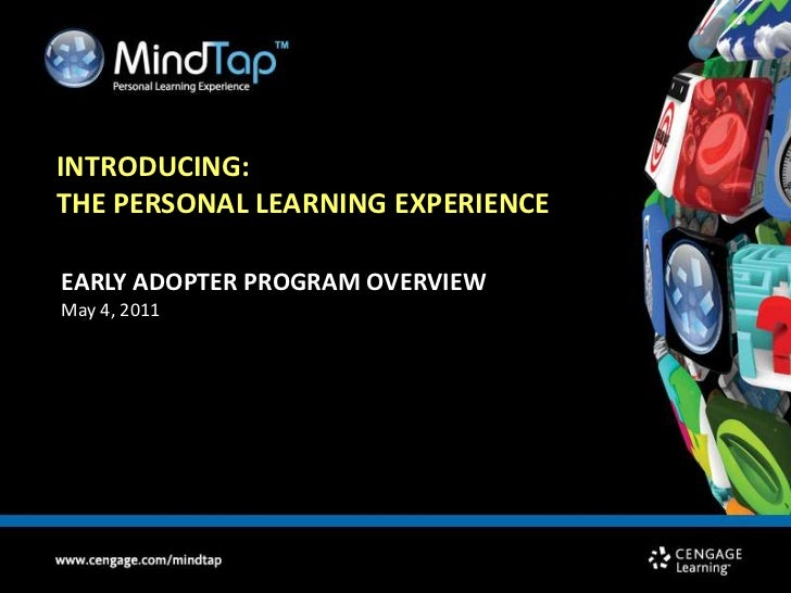 Introducing: <br />the Personal Learning Experience<br />EARLY ADOPTER PROGRAM OVERVIEW<br />May 4, 2011<br />