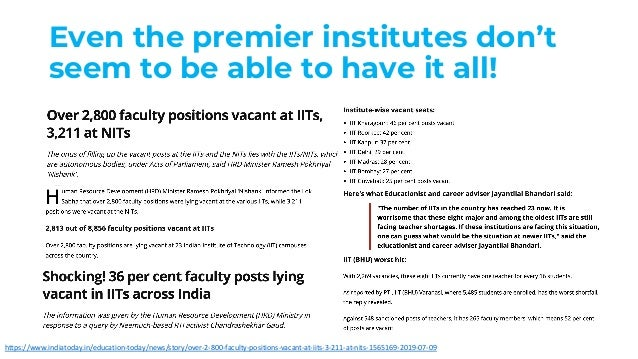 Even the premier institutes don't seem to be able to have it all! https://www.indiatoday.in/education-today/news/story/ove...