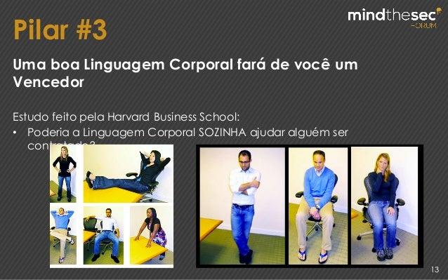 Pilar #3 13 Uma boa Linguagem Corporal fará de você um Vencedor Estudo feito pela Harvard Business School: • Poderia a Lin...