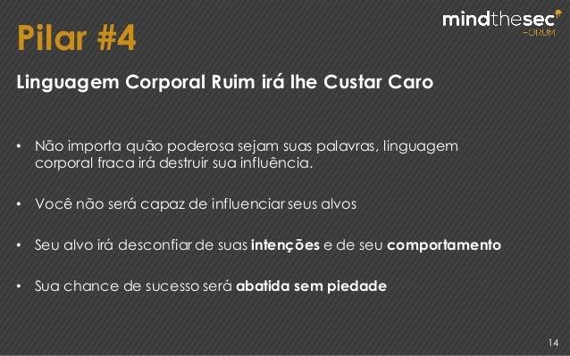Pilar #4 14 Linguagem Corporal Ruim irá lhe Custar Caro • Não importa quão poderosa sejam suas palavras, linguagem corpora...